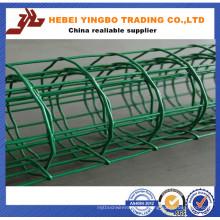 Stahlzaun-012 heiße Verkäufe grüne Farbe installieren Aluminiumzaun