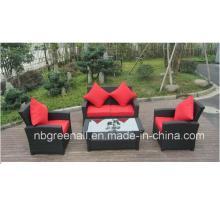 Wicker Möbel Rattan Sofa Set für Garten mit Aluminium Rahmen
