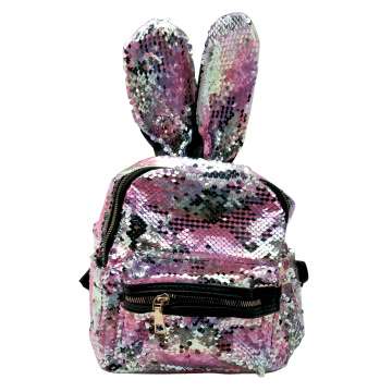 PINK EARS SEQUIN BACKPACK-0
