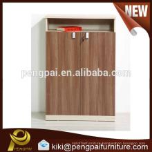 Fashionable large size two doors size MDF cabinet design