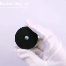 Neodymium Rubber Coating Pot with External Screw Thread