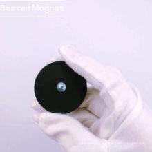 Горшок с неодимовым резиновым покрытием с наружной резьбой