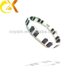 wholesale couple stainless steel jewelry link chain black and white bracelet