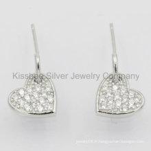 Bijoux beaux, bijoux en argent, boucles d'oreilles en argent sterling (KE3072)