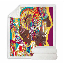 Super Soft Sweatshirt Cover Blanket Bedding Set for Hotel with 3D Digital Printing African Girl Painting