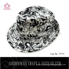 Sombreros del snapback de Fedora sombreros negros baratos del sombrero del sombrero del fedora gorras