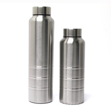 Wide mouth 18/8 stainless steel single wall sporting outdoor water bottle customized logo