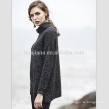 Suéter de gola de gola de caxemira e espessura