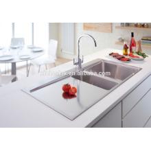 Inset Stainless Steel Topmount Handmade Kitchen Sink with Drainer