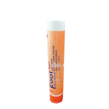 D25mm white round offset printing tube with flip top cap