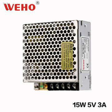 Proveedor de China WEHO 15W 5V DC Fuente de alimentación