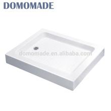 wholesale hotel use artificia cultured deep washbasin acrylic low slate anti slip shower tray