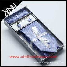 Caixa de armazenamento de gravata de seda quadrada de bolso