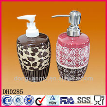 Customized logo bulk glazed bath milk bottles , ceramic perfume bottle