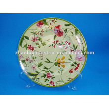Platos decorativos florales de mesa de porcelana