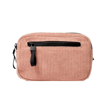 Custom Pink Corduroy Money Fanny Pack midja väska