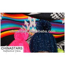 Chaîne réfléchissante tricotée à haute visibilité pour un bonnet
