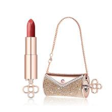 Carved exquisite lipstick tube three color lipstick