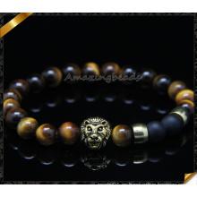 Ojo de tigre Amor famosos brazaletes de pulseras de la marca de fábrica Pulsera de piedra natural de moda para la joyería de los hombres de las mujeres (CB0103)