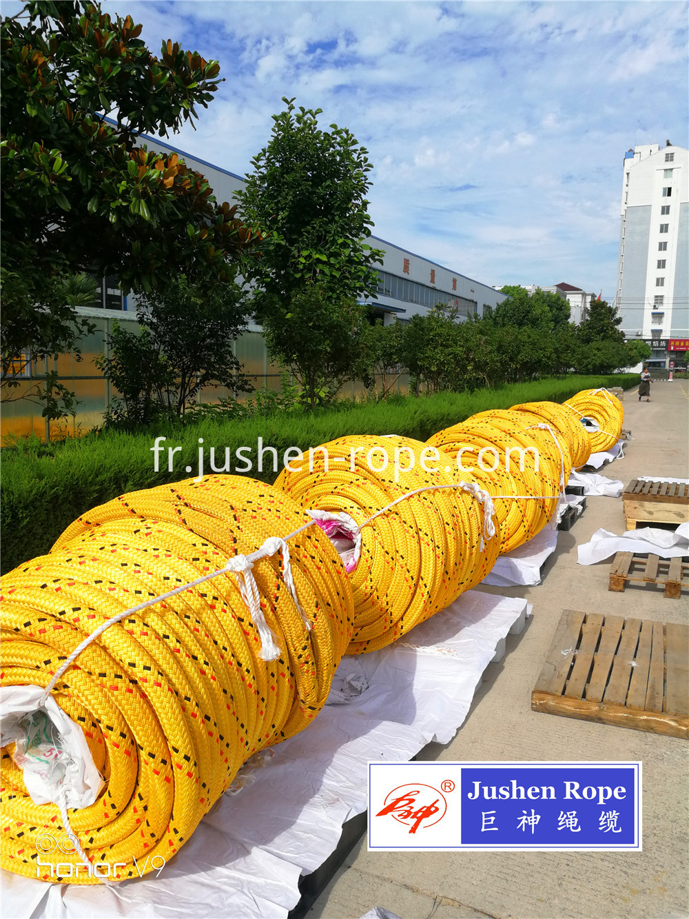 12 Strand Uhmwpe Polyester Jacketed Rope