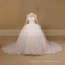 Elegant Multi Layers Robe de mariée en dentelle à manches longues Robe de mariée nuptiale 2017