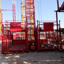 Elevador de construcción Ss100 / 100 Elevador de construcción para mercancías