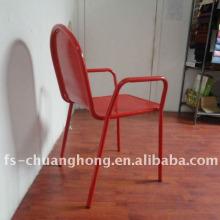 Cadeira de braços de aço vermelho mobiliário usado no hotel (YC-ZG001)
