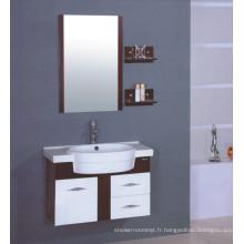 Meubles de Cabinet de salle de bains de PVC de 80cm (B-508)