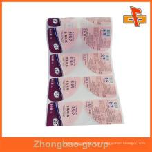 Guangzhou fabricante de impressão por grosso e material de embalagem personalizado impresso hot melt adesivo etiqueta