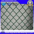 ПВХ с покрытием сварной сетки сетки цепи забор