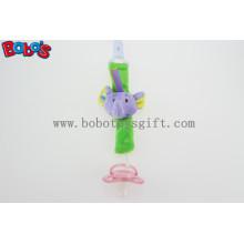 Blue elefante cabeça brinquedo titular chupeta titular chupeta de pelúcia para o bebê Bosw1053 / 14cm