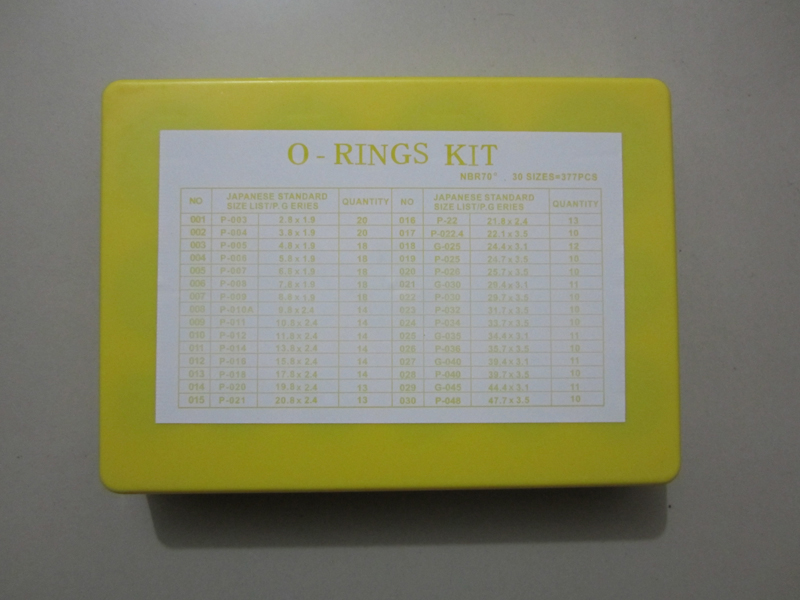 Japanese Standard Series O Rings Kit Nbr70 377pcs