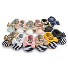 12 couleurs Bowknot & Tassels & Rivet First Walker Chaussures bébé Infant Toddler