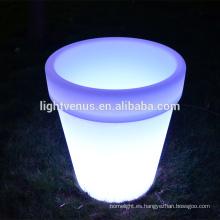 BSCI aprobación LED pot/E27plastic LED jardinera olla/barato flores macetas