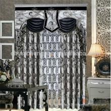 Costume feito cortinas italianas modernas preto e branco