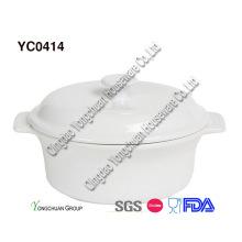 Cacerola funcional de la cocina con la tapa en la promoción