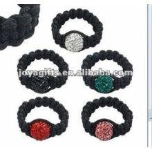 Fashion Shamballa Balls Ring