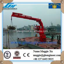 hydraulic knuckle boom ship marine crane for sale