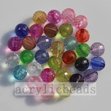 Clear 96 faceted cut round crystal global charming beads