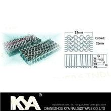 Serie W de grapas corrugadas para el mobiliario