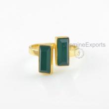 Großhandel Lieferant für grüne Onyx Ring, 18k Gold Onyx Edelstein Ringe Schmuck