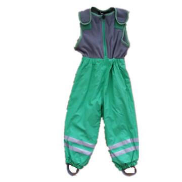 Зеленый рукавов комбинезон/брюки/общее/плащи с шерсть для детей