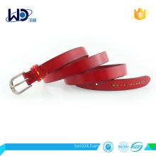 women full - grain leather belt with alloy buckle