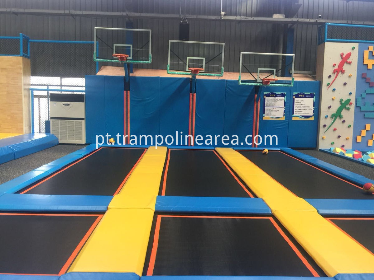 indoor trampoline with spider wall
