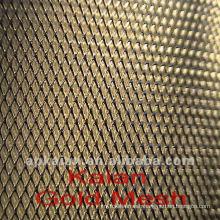 300mm diamond gold expanded metal mesh