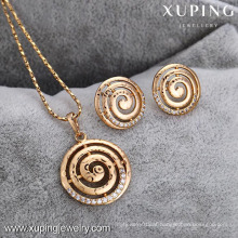 62598-Xuping Cheap Imitation Gold Jewelry Fashion Wholesale Jewelry Set