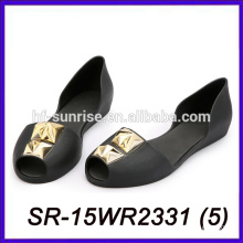 black fashion women jelly sandals wholesale jelly sandals plastic jelly shoes women