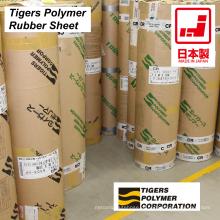 Folha de borracha de alta qualidade feita de diferentes plásticos pelo Tigers Polymer. Feito no Japão (chapa revestida de borracha)