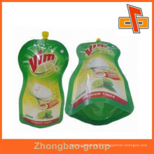 wholesale china factory packaging material leakproof reusable food spout pouch for liquid packing