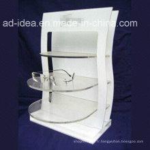 Support acrylique personnalisé blanc chaud de vente avec le logo imprimé